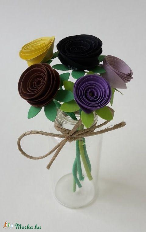 Kis virágcsokor III (gyongypapir) - Meska.hu