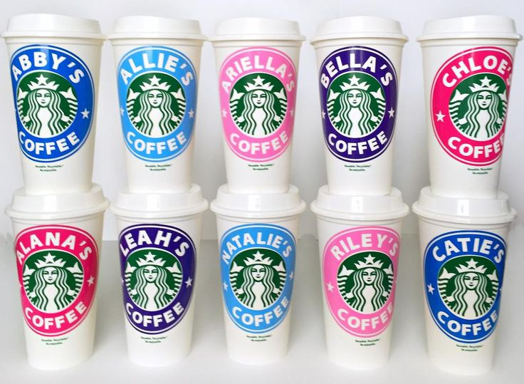 Personalized Starbucks Cups! Awesome gift idea for teen girls, tweens, teacher gifts, hostess gifts or yourself! anyone who loves starbucks coffee would flip over these!                                                                                                                                                                                 More