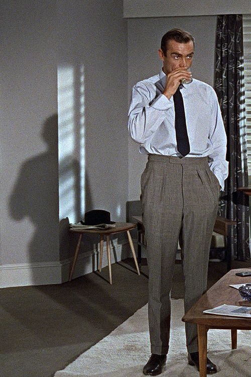 jamesthemovieman:  Sean Connery in Terence Young's 'Dr. No' (1962)  Terence Young had such a great influence on the early James Bond movies....