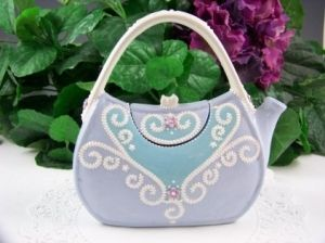 Purse teapot - how cute!