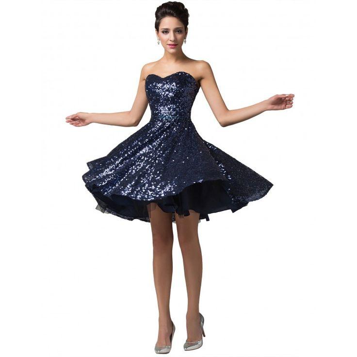 Tmavomodré spoločenské šaty CL6133