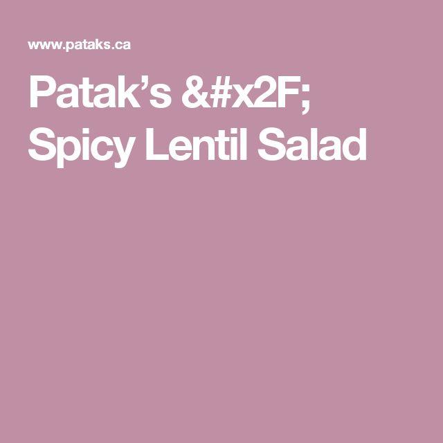 Patak's / Spicy Lentil Salad