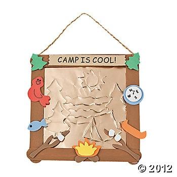 Embossed Foil Camp Sign Craft Kit