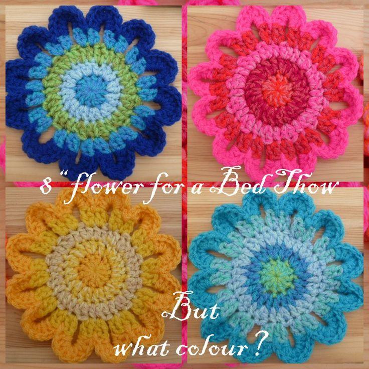 Free Large Crochet Flower Pattern Choice Image Knitting Patterns