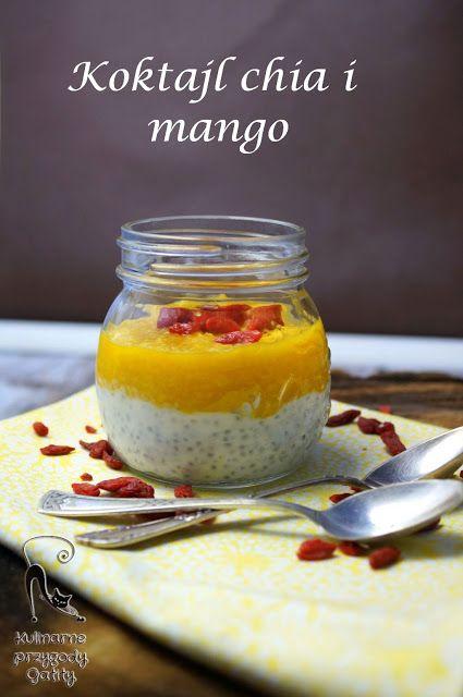 Kulinarne przygody Gatity: Koktajl jogurtowy z nasionami chia i mango