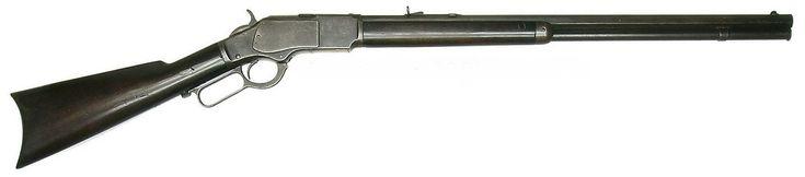 Un fusil Winchester Modelo 1873, con el que los mercenarios de Popper combatían las flechas de los ona/selknam, aborigenes de Tierra del Fuego luego exterminados