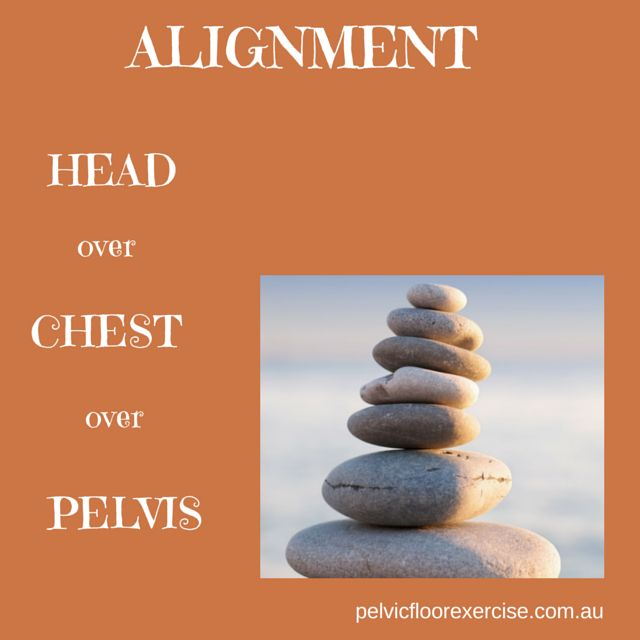 alignment not posture...head over chest , chest over pelvis