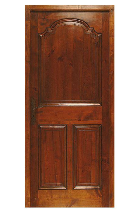Porte modèle Clarou III Panneaux. Modèle présenté en Merisier de France.