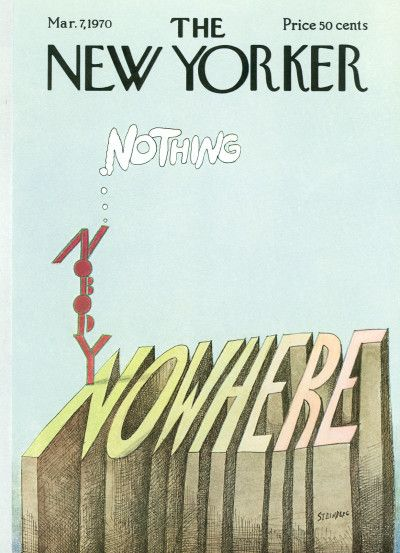Saul Steinberg : Cover art for The New Yorker 2351 - 7 March 1970