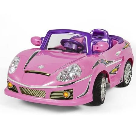 12v ride on car kids w mp3 electric battery power remote control rc pink
