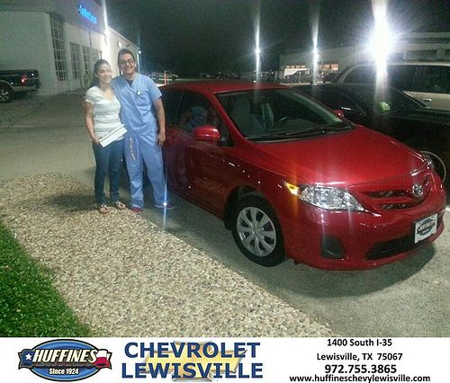 Thank you to Primitivo Corona on your new 2011 Toyota Corolla from James Bruck and everyone at Huffines Chevrolet Lewisville!