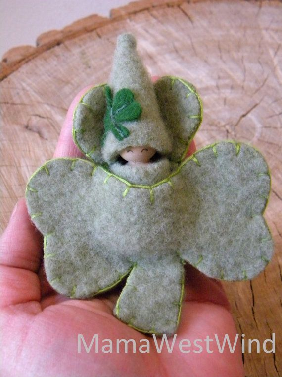 This is a Made to Order item. Your doll will be specially made for you. This sweet, Lucky Shamrock doll would be a lovely gift to a special child in