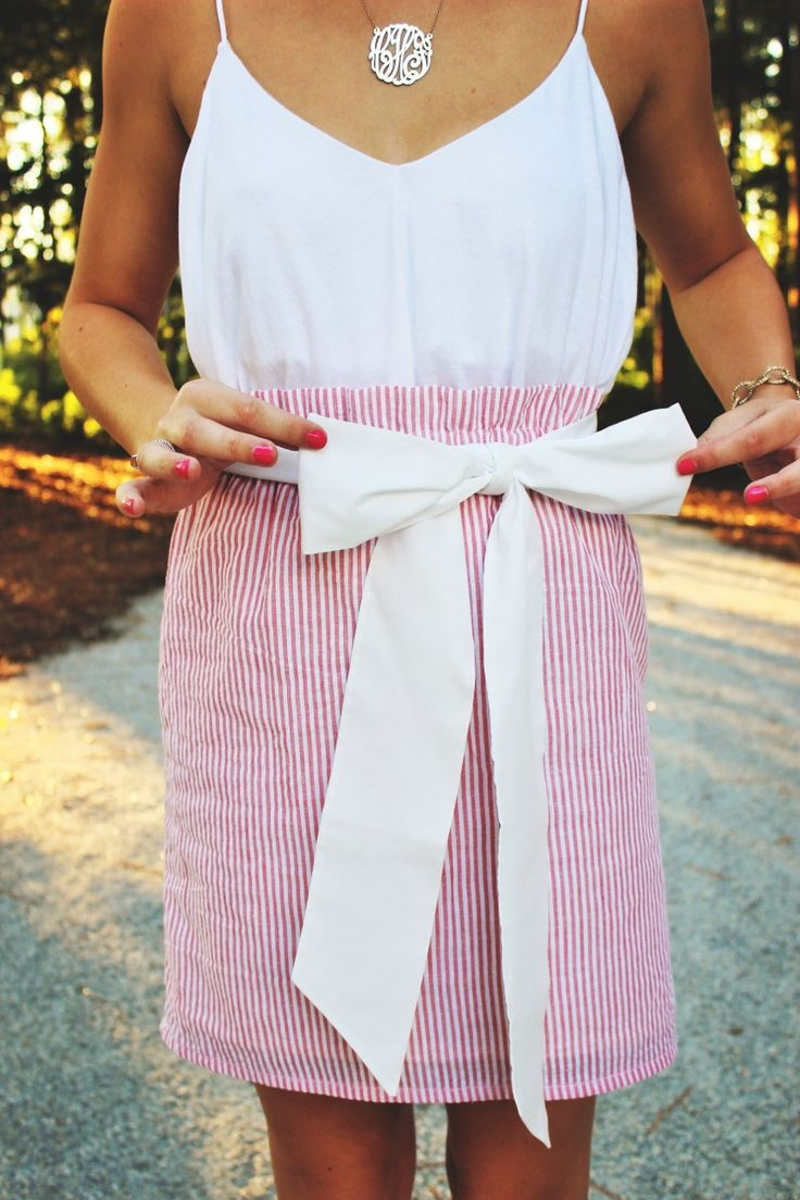 Southern By the Grace of God : Photo Seersucker and Sash.  So summer cute