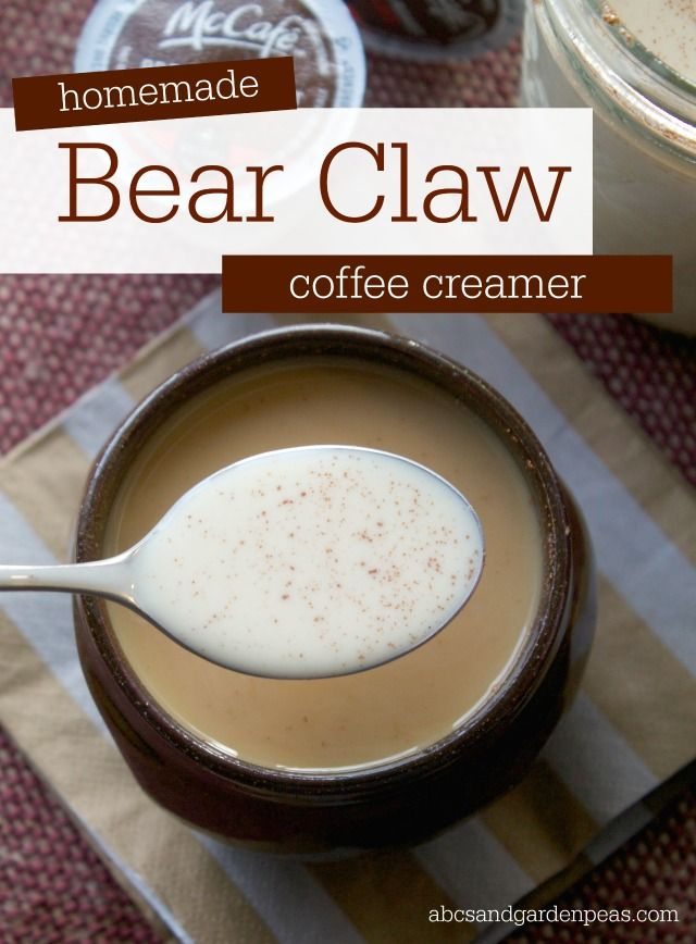 Homemade Bear Claw Coffee Creamer – for a cup you'll want to wake up to! #McCafeMyWay #ad