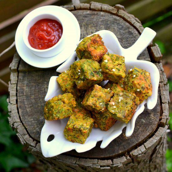 Scrumptious Cilantro Croquettes with Chickpeas Flour, Roasted Peanuts, spices & sesame seeds. From Maharashtra, India.