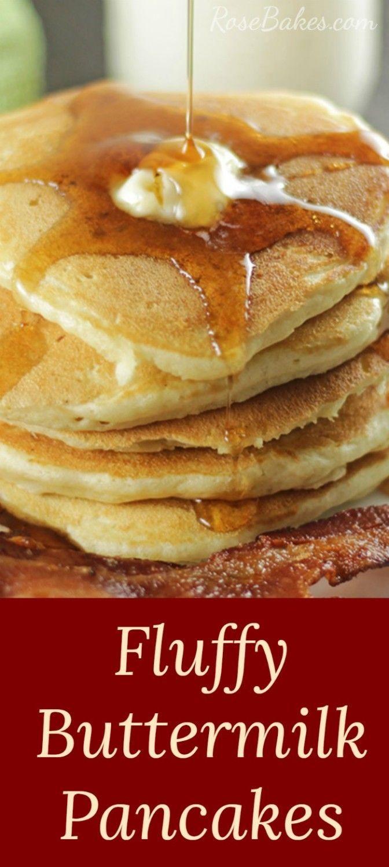 Fluffy Buttermilk Pancakes Recipe Rose Bakes Recipe Pancake Recipe Buttermilk Buttermilk Pancakes Fluffy Buttermilk Pancakes