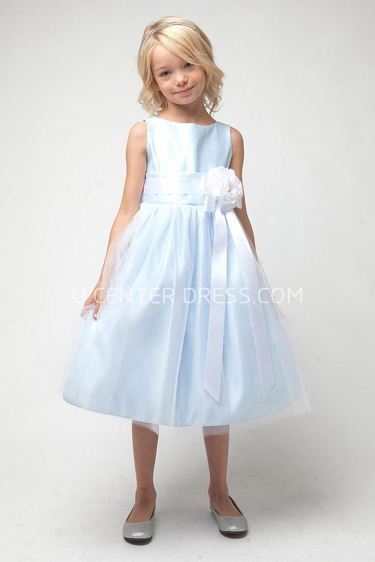 75 best junior bridesmaid dress images on pinterest junior 6131 lovely tea length tiered tullesatin sleeveless light blue junior bridesmaid dress long ombrellifo Images