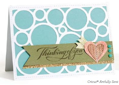 CTMH Cricut Artfully Sent card
