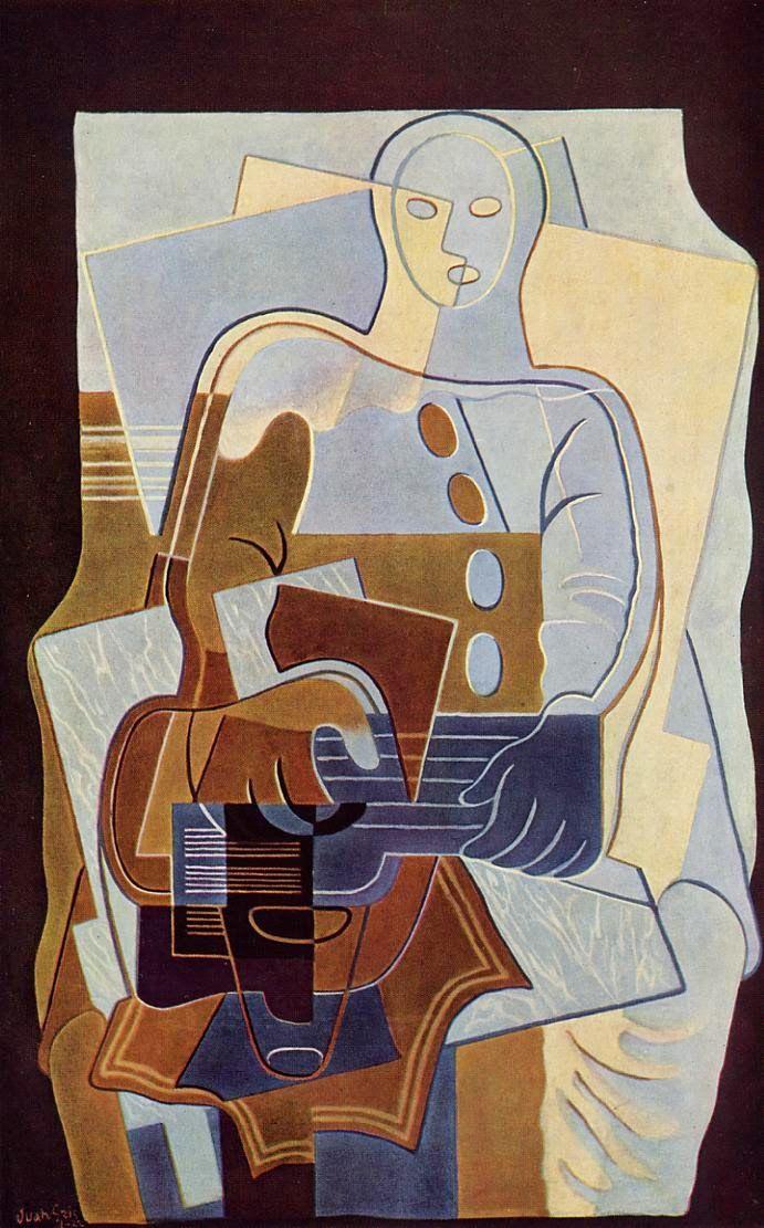 TICMUSart: Pierrot with Guitar - Juan Gris (1922) (I. M.)