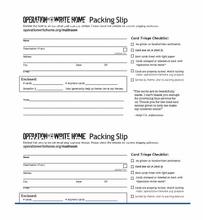 Packing Slip Template With Images Templates Words Packing Slip