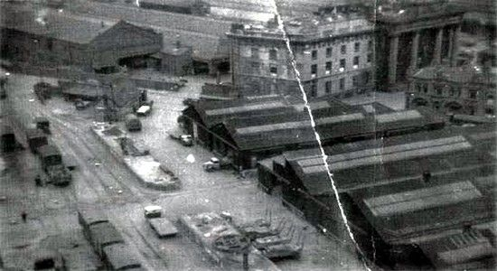 Curzon Street 1938, Curzon Street station & The Woodman top right
