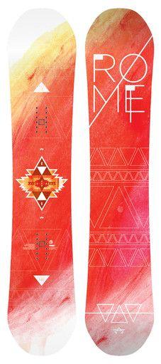 Beautiful bright board. Rome Scandal Snowboard | Rome Snowboard Design Syndicate 2015