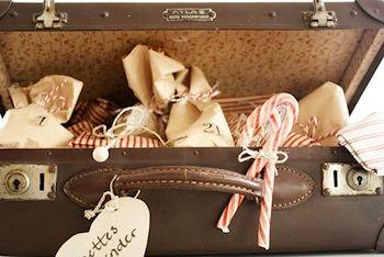 An advent calendar of paper parcels, at asubtlerevelry.com