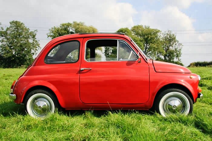 Vintage Car Love: Red 1965 Fiat 500