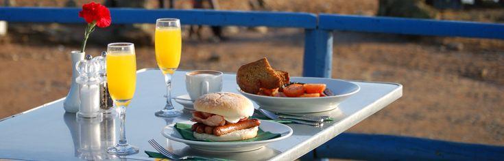 Breakfast on the beach.....can't beat it!!