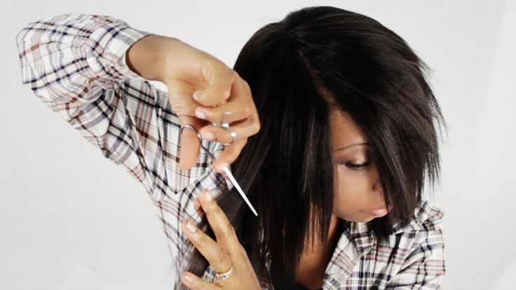 How To Cut And Style Your Invisible Part Weave Like A Professional Tutor...