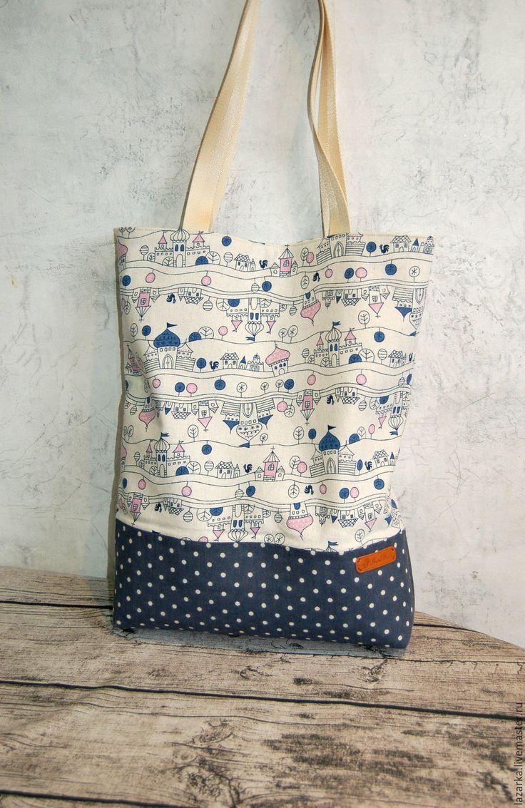 """Купить Сумка летняя текстильная """"Путешествие"""" - сумка шоппер, сумка большая, сумка текстильная"""