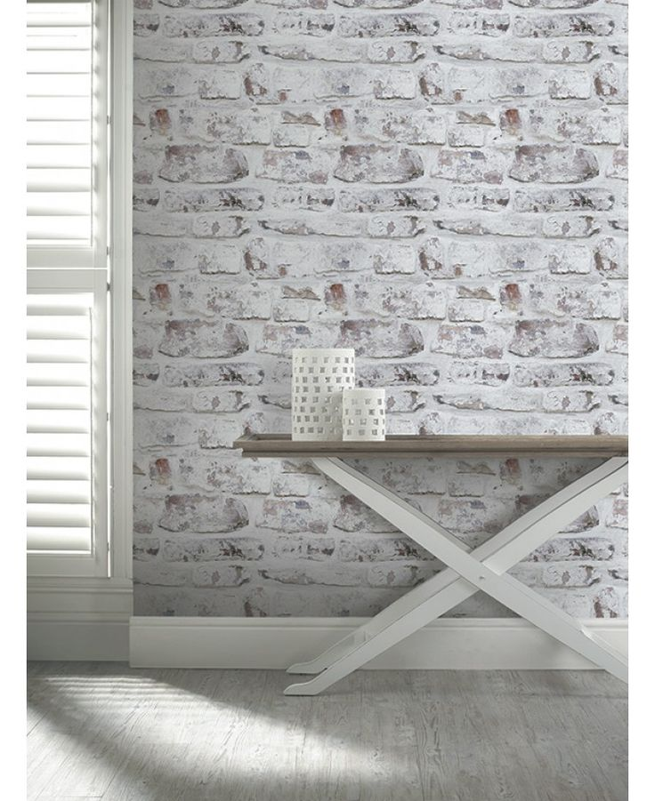 This fantastically realistic Whitewashed Wall Wallpaper features a rustic brick wall print with a peeling whitewashed paint effect. The design is printed on to high quality paper and the stunning detail makes it appear textured when it is in fact completely smooth