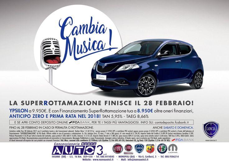 La #superrottamazione finisce il 28 #Febbraio, vieni in concessionaria a scoprile la #promozione.  #nuovaauto3  http://www.nuovaauto3-fcagroup.it/lancia/promozioni#86240