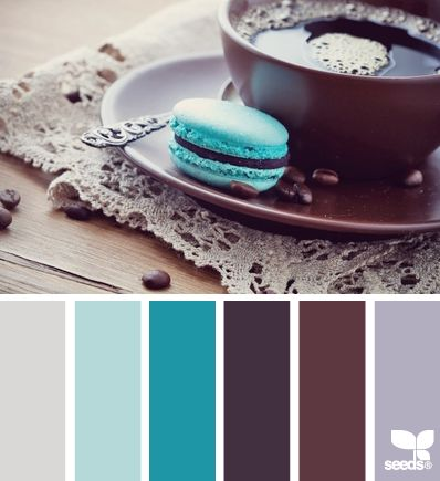 We love the colour pop of this bold blue tone! The welcoming contrast with the purples is fab. Macaroon looks delectable too...