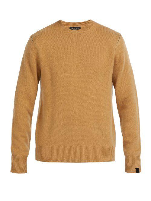 Rag Bone Rag Bone Haldon Cashmere Sweater Mens Camel