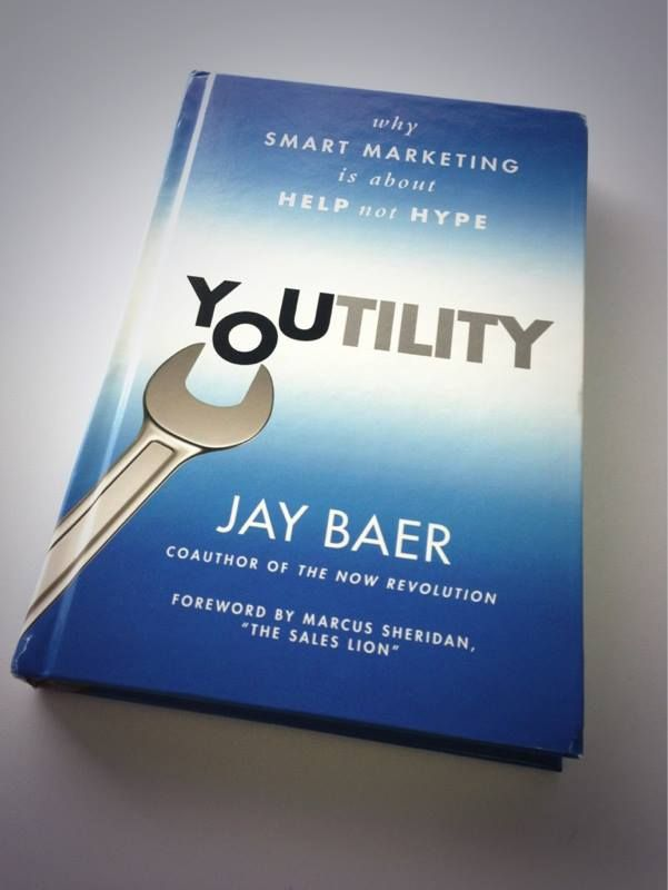 Jay Baer was kind enough to send me this signed copy earlier this week.  Youtility deals with a new marketing model for the age of information overload and proves (with case studies) that gratitude and good will are powerful incentives to lure new customers and keep them coming back.