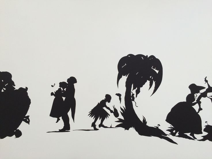 AFRICAN'T, 1996 by KARA WALKER at THE BROAD Museum - LOS ANGELES. Opening first day tour Sept. 2015 Photo by Anthony Rios