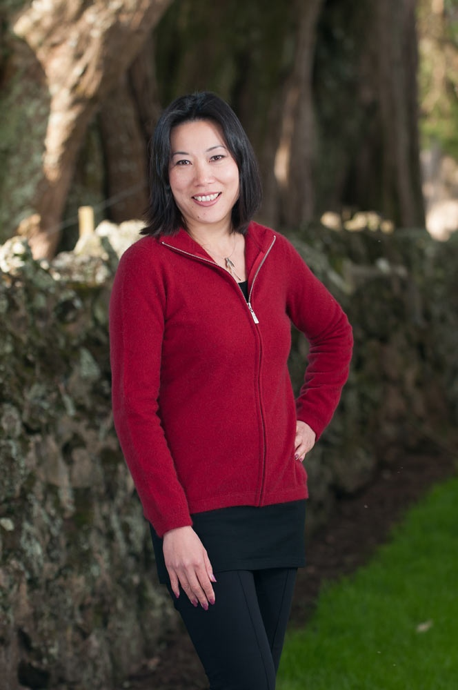 A lovely possum merino Berry Red jacket. This is modern, warm, soft and comfortable. NZ$229