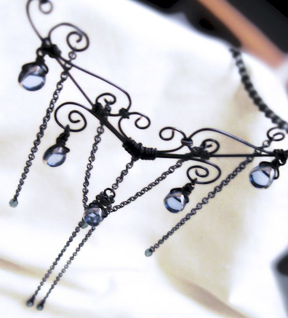 gothica wirework necklace Handmade jewelry