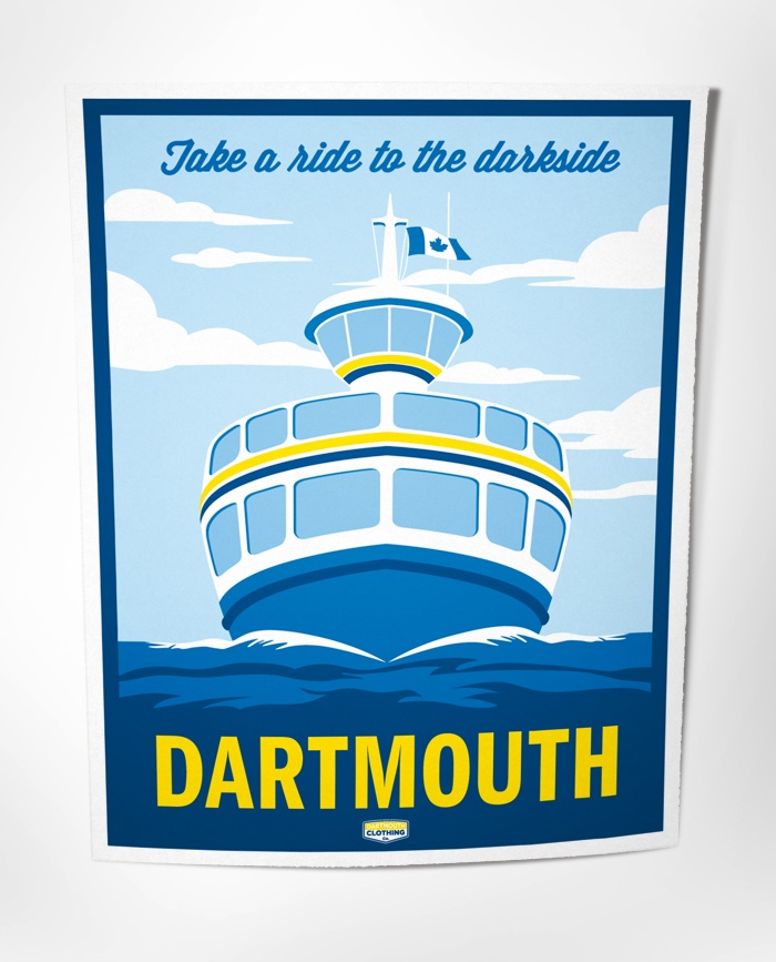 DArtmouth Clothing Company: Dartmouth Posters - Take a ride to the darkside
