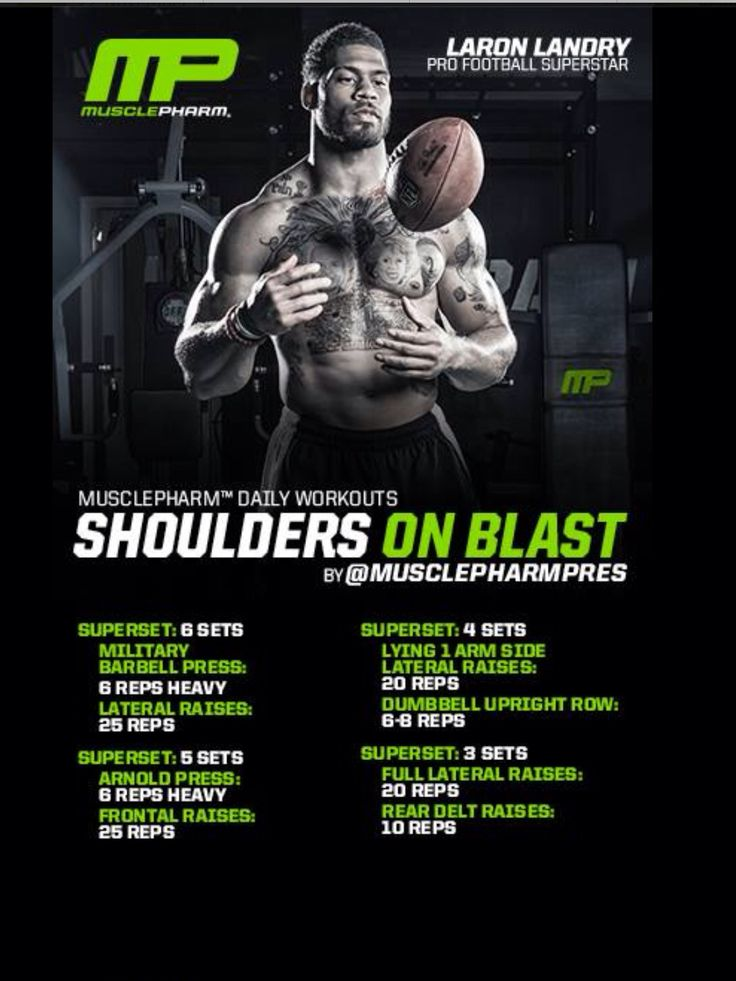 Shoulder on blast workout by Musclepharm. | Workouts ...