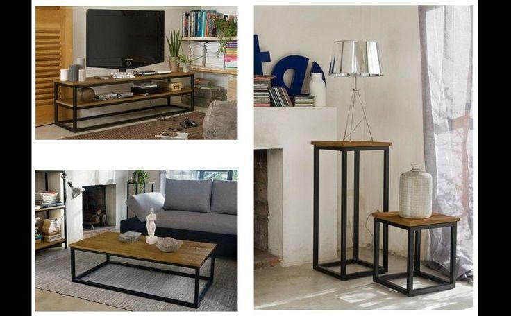 Table, meuble TV, console Zoom sur la collection Facto  Idée