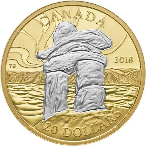 RCM New Release: 2018 1 oz. Reverse Gold-Plated Pure Silver Coin - Iconic Canada: Inukshuk - Coin Community Forum