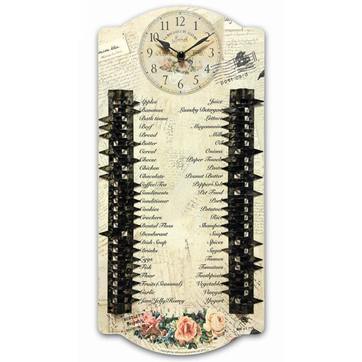 Cool Kitchen Clocks Part - 35: Essentials Wall #clock By Infinity Instruments. Shopping List With  Decorative Metal Arrows To Indicate · Kitchen ClocksCool ...