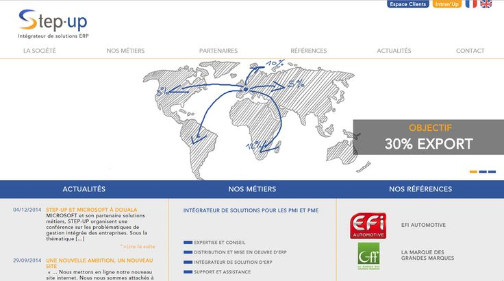 Site web pour STEP-UP, intégrateur de logiciels ERP - 2014