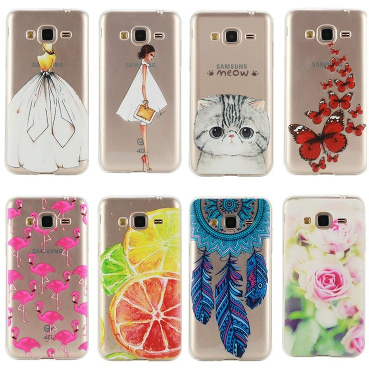 J3 Fashion Silicone Case For Samsung GALAXY J3 J5 A3 A5 2016 Version Cover Girl Bird Cute Cat Lemon Flower Clear Back Gel Cases