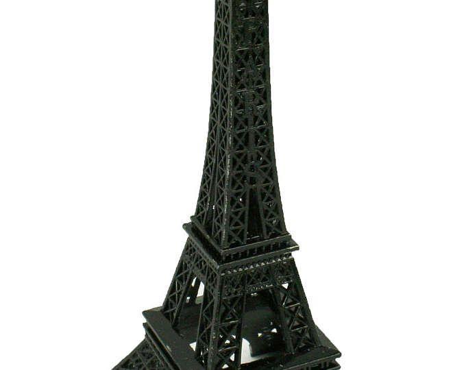 ZWARTE Eiffeltoren Parijs Frankrijk metalen staan Model voor het Decor van de tabel formaat kiezen