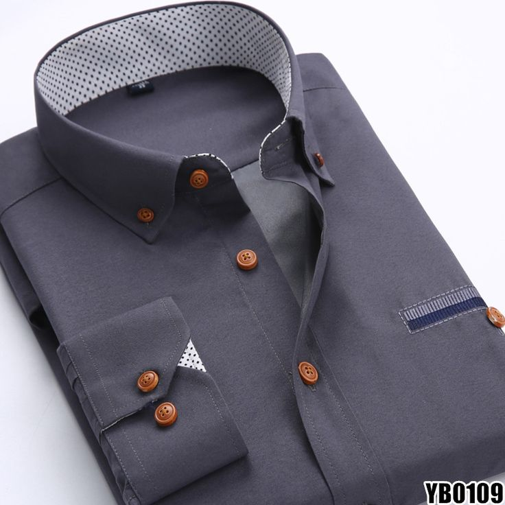 Long Sleeved Slim Fit Dress Shirt
