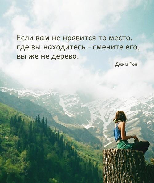 Если вам не нравится то место,где вы находитесь-смените его ,вы же не дерево !