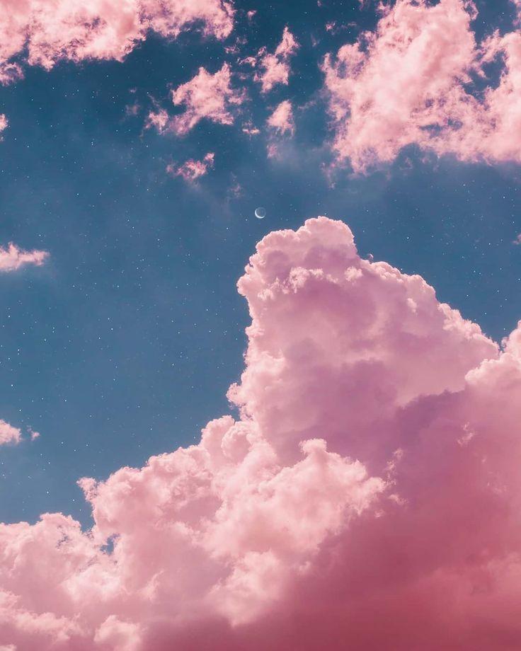 фон облака розовые восстановила внешний вид